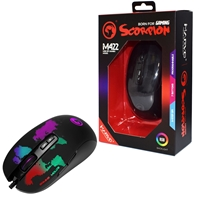 Marvo Scorpion M422 USB RGB LED Black Programmable Gaming Mouse
