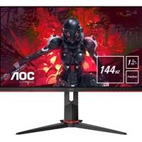 "AOC 27G2U/BK 27"" Full HD LED 144Hz Widescreen IPS HDMI/Display Port Freesync 1ms Gaming Black/Red Monitor"