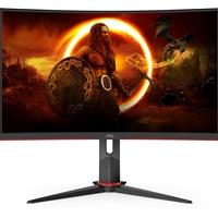 "AOC C27G2ZU/BK 27"" LED Widescreen HDMI/ DisplayPort Freesync 0.5ms Speakers Frameless Curved Gaming Monitor"