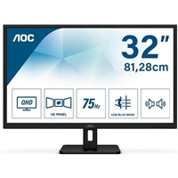 "AOC Q32E2N 31.5"" QHD 75Hz 4ms HDMI / Display Port  inc Speakers IPS Monitor"