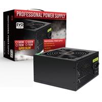 Evo Labs E-600BL 600W 120mm Black Silent Fan PSU