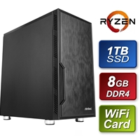 Antec AMD 3200G 3.60GHz Quad Core 8GB DDR4 RAM 1TB SSD w Wireless Card Prebuilt System