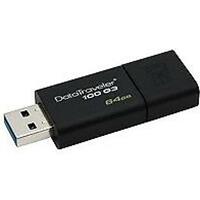Kingston DataTraveler 100 G3 64GB USB 3.0 Black USB Flash Drive