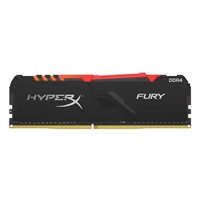 Kingston HyperX Fury RGB 8GB Black Heatsink (1x8GB) DDR4 2666MHz DIMM System Memory