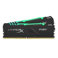 Kingston HyperX Fury RGB 64GB Black Heatsink (2x32GB) DDR4 2666MHz DIMM System Memory