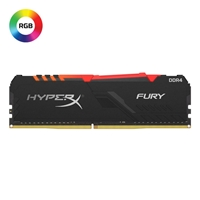 Kingston HyperX Fury RGB 8GB Black Heatsink (1 x 8GB) DDR4 3200MHz DIMM System Memory