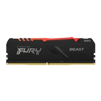 Kingston Fury Beast 16GB 3200MHz DDR4 CL16 DIMM RGB System Memory