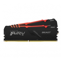 Kingston Fury Beast 32gb 3600mhz (2 X 16gb) Ddr4 Cl18 Dimm Rgb System Memory Kf436c18bbak2/32 - Tgt01