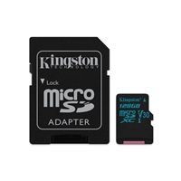 Kingston Canvas Select 128GB Micro SD UHS-I Flash Card with Adapter