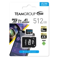 Team Elite A1 512GB Micro SDXC UHS-1 Flash Card with Adapter (for Android & 4K)