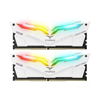Team NIGHT HAWK RGB 16GB White Heatsink with RGB LEDs (2 x 8GB) DDR4 3000MHz DIMM System Memory