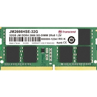 Transcend 32GB (1 x 32GB) DDR4 2666MHz SODIMM System Memory
