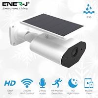 ENER-J Smart Solar Powered Wireless Outdoor IP Camera, 1080P