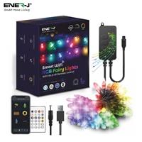 ENER-J Smart RGB Fairy Lights, 5 meter length, 50 LEDs, WiFi+BLE+IR Remote control