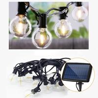 ENER-J Solar String Lights, 7.6m, 25 Filament Bulbs