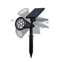 ENER-J 7W Solar Spike Garden Light, 1800 mAh battery, 5.5V 1.5W Solar Panel, 6000K