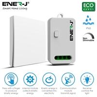 ENERJ 1 Gang Wireless Kinetic Switch, Non Dimmable & WiFi 5A RF Receiver Bundle Kit