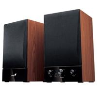 Genius SP-HF1250B II Wooden Hi-Fi Stereo Speakers