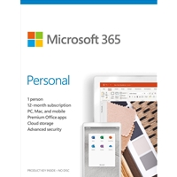 Microsoft 365 Personal 2020 English EuroZone Subscription 1 Year Medialess