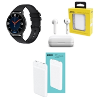 Outdoor and Fitness Bundle with Xiaomi MI IMILAB Smartwatch, Prevo X12 TWS Wireless Earbuds and Prevo SP3012 10000mAh Slim Powerbank